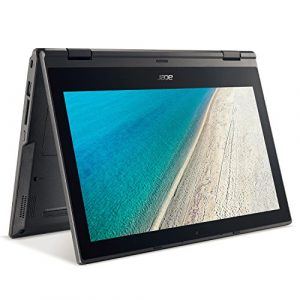 ACER TravelMate Spin B118 29cm (11,6 Zoll glänzendes Full-HD IPS Touchscreen-Display) Notebook (Intel Quad-Core bis zu 4x 2,2 GHz, 4GB RAM, 500GB S-ATA 3 HDD, Intel HD Grafik, HDMI, Frontkamera, USB 3.0, WLAN, Bluetooth, Windows 10 Professional 64 Bit) #2253