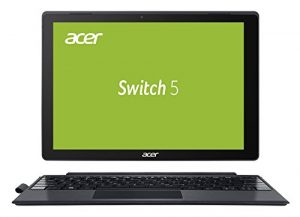 Acer Switch 5 SW512-52-5819 30,48 cm (12 Zoll QHD Multi-Touch IPS) 2-in-1 Notebook (Intel Core i5-7200U, 8 GB RAM, 256 GB PCIe SSD, Intel HD, Win 10 Home) anthrazit