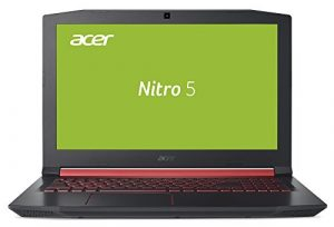 Acer Nitro 5 AN515-51-55VA 39,6 cm (15,6 Zoll Full HD IPS matt) Gaming Notebook (Intel Core i5-7300HQ, 8GB RAM, 1TB HDD, GeForce GTX 1050, Win 10) schwarz/rot